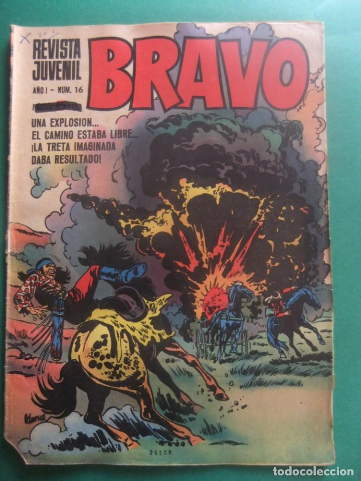 REVISTA BRAVO Nº 16 EDITORIAL BRUGUERA (Tebeos y Comics - Bruguera - Bravo)