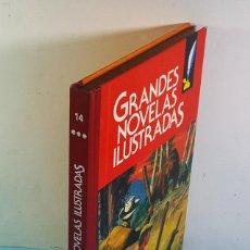 Tebeos: GRANDES NOVELAS ILUSTRADAS BRUGUERA VOLUMEN 14 1ª EDICION 1986, LOS MINEROS DE ALASKA.... Lote 221778732
