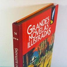 Tebeos: GRANDES NOVELAS ILUSTRADAS BRUGUERA VOLUMEN 14 1ª EDICION 1986, LOS MINEROS DE ALASKA.... Lote 221778868