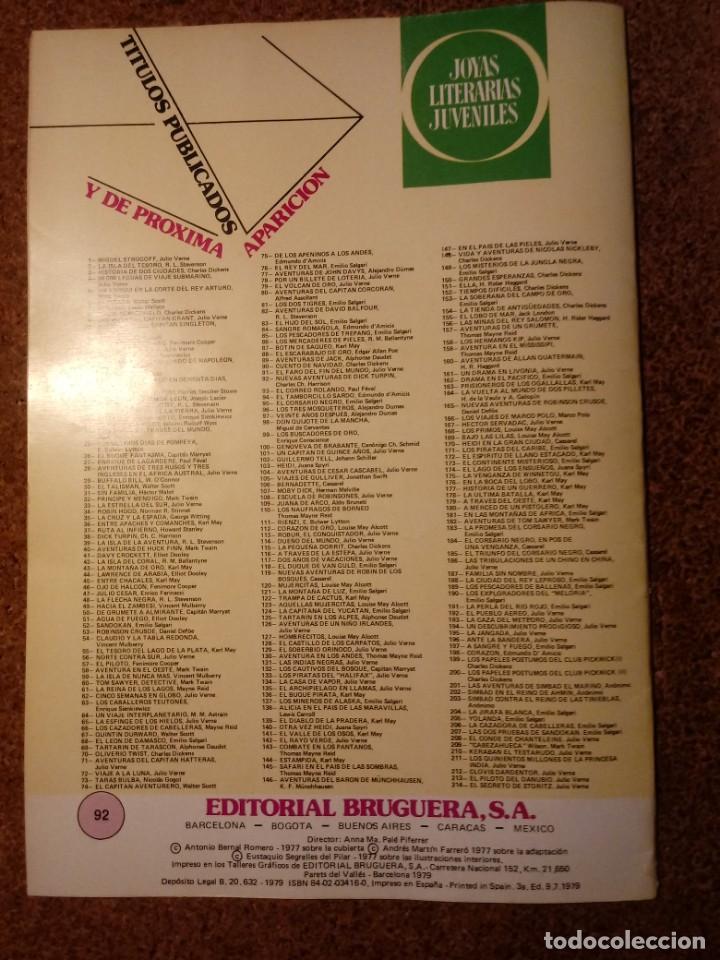 Tebeos: COMIC DE JOYAS LITERARIAS JUVENILES NUEVAS AVENTURAS DE DICK TURPIN AÑO 1979 Nº 92 - Foto 2 - 221887871
