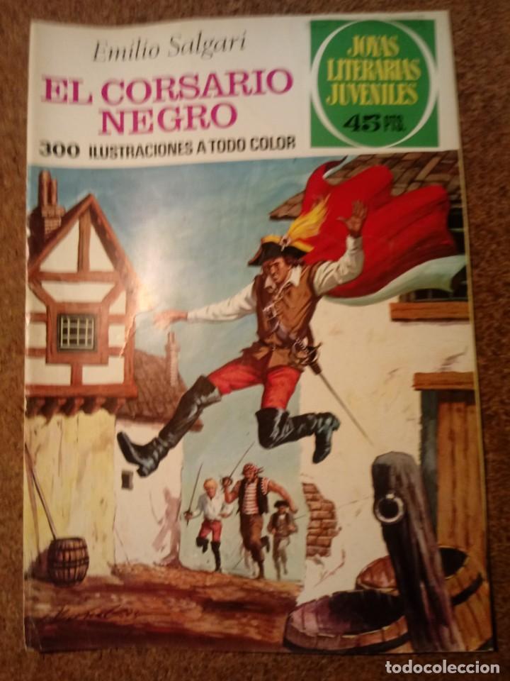 COMIC DE JOYAS LITERARIAS JUVENILES EL CORSARIO NEGRO DEL AÑO 1977 Nº 95 (Tebeos y Comics - Bruguera - Joyas Literarias)