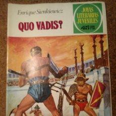 Tebeos: COMIC DE JOYAS LITERARIAS JUVENILES QUO VADIS ? DEL AÑO 1980 Nº 14. Lote 221889506