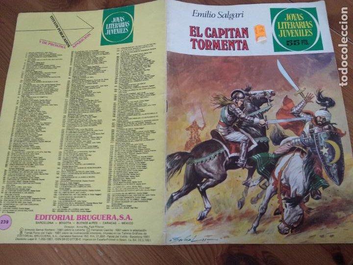 JOYAS LITERARIAS Nº 239 EL CAPITAN TORMENTA (BRUGUERA) PRIMERA EDICION (Tebeos y Comics - Bruguera - Joyas Literarias)