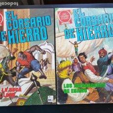Tebeos: LOTE 2 TEBEOS / CÓMIC EL CORSARIO DE HIERRO N 3 Y 4 BRUGUERA 1977 JOYAS LITERARIAS ROJA. Lote 221937113