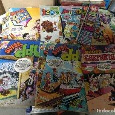 Tebeos: LOTE 12 COMICS BRUGUERA SUPER DDT-SACARINO-ZIPI-ZAPE ORIGINALES AÑOS 70-80. Lote 221962937