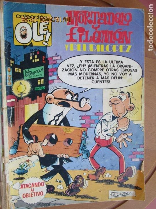 MORTADELO Y FILEMON Y PLURILOPEZ - ATACANDO AL OBJETIVO Nº 198 - BRUGUERA 1980 1ª EDC (Tebeos y Comics - Bruguera - Ole)
