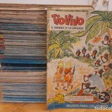 Tebeos: REVISTA TIO VIVO II. EDITORIAL BRUGUERA. 196 EJEMPLARES DEL 79 (AÑO 1962) AL 546 (AÑO 1971). Lote 222242960