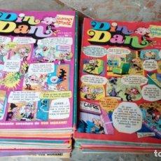 Livros de Banda Desenhada: DIN DAN LOTE DE 60 TEBEOS DEL Nº 302 AL 362 FALTA EL 313 BRUGUERA MUY BUEN ESTADO. Lote 222269203