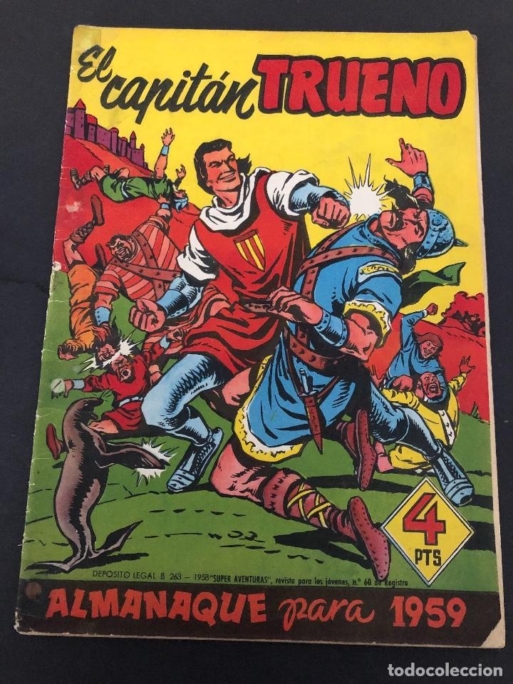 ALMANAQUE ORIGINAL EL CAPITAN TURENO 1959 EDITORIAL BRUGUERA (Tebeos y Comics - Bruguera - Capitán Trueno)