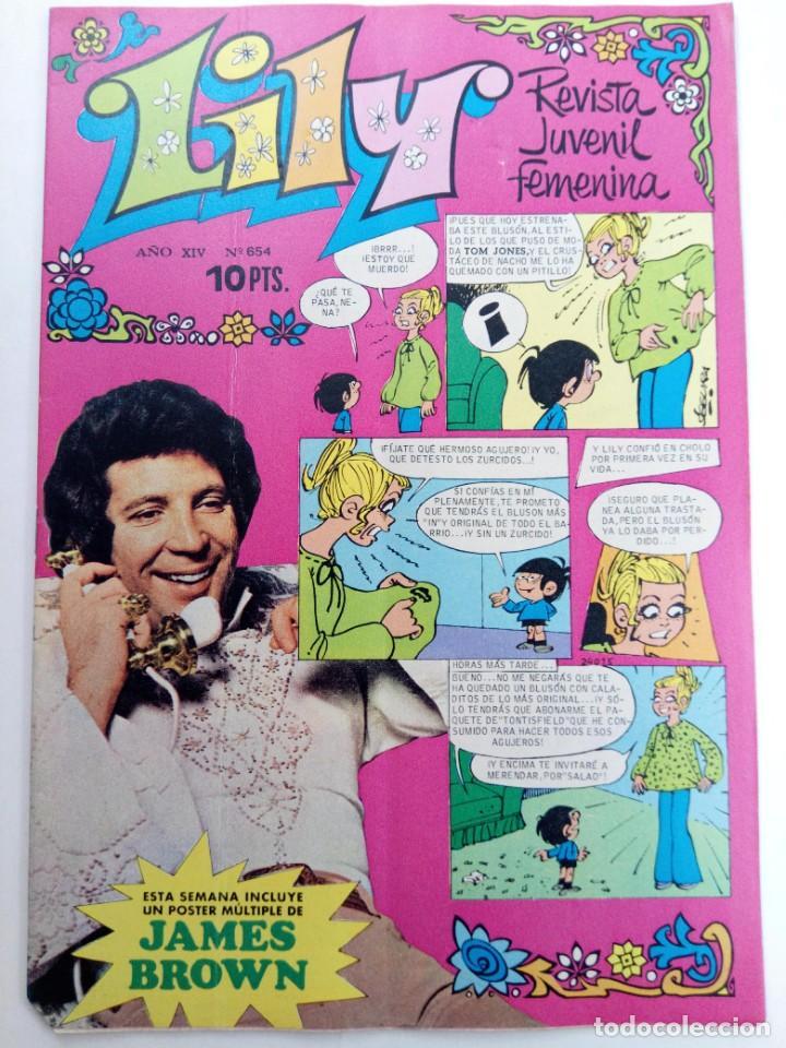 LILY Nº 654 (SIN USAR, DE DISTRIBUIDORA) (Tebeos y Comics - Bruguera - Lily)