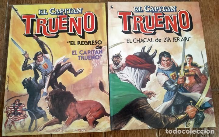 EL REGRESO DEL CAPITÁN TRUENO Y EL CHACAL DE BIR JERARI. COMPLETA. BRUGUERA 1986, 1A EDICION (Tebeos y Comics - Bruguera - Capitán Trueno)