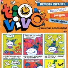 Tebeos: REVISTA INFANTIL TIO VIVO. Nº 1. DICIEMBRE DE 1985. Lote 222371271