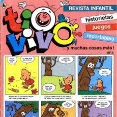 Tebeos: REVISTA INFANTIL TIO VIVO. Nº 5. ENERO DE 1986. Lote 222371887