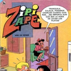 Tebeos: REVISTA ZIPI Y ZAPE. AÑO XV. Nº 668. MAYO DE 1986. Lote 222375608