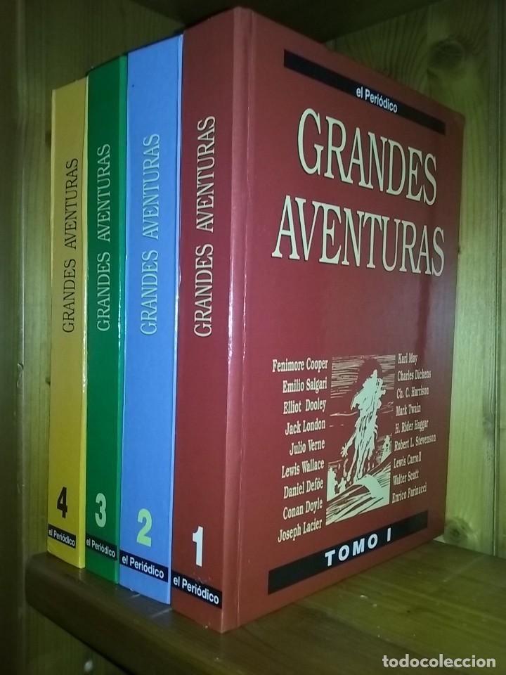 GRANDES AVENTURAS, CUATRO 4 TOMOS, EL PERIODICO, COMPLETO Y ENCUADERNADO, JOYAS LITERARIAS BRUGUERA (Tebeos y Comics - Bruguera - Joyas Literarias)