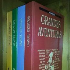 Tebeos: GRANDES AVENTURAS, CUATRO 4 TOMOS, EL PERIODICO, COMPLETO Y ENCUADERNADO, JOYAS LITERARIAS BRUGUERA. Lote 222384425