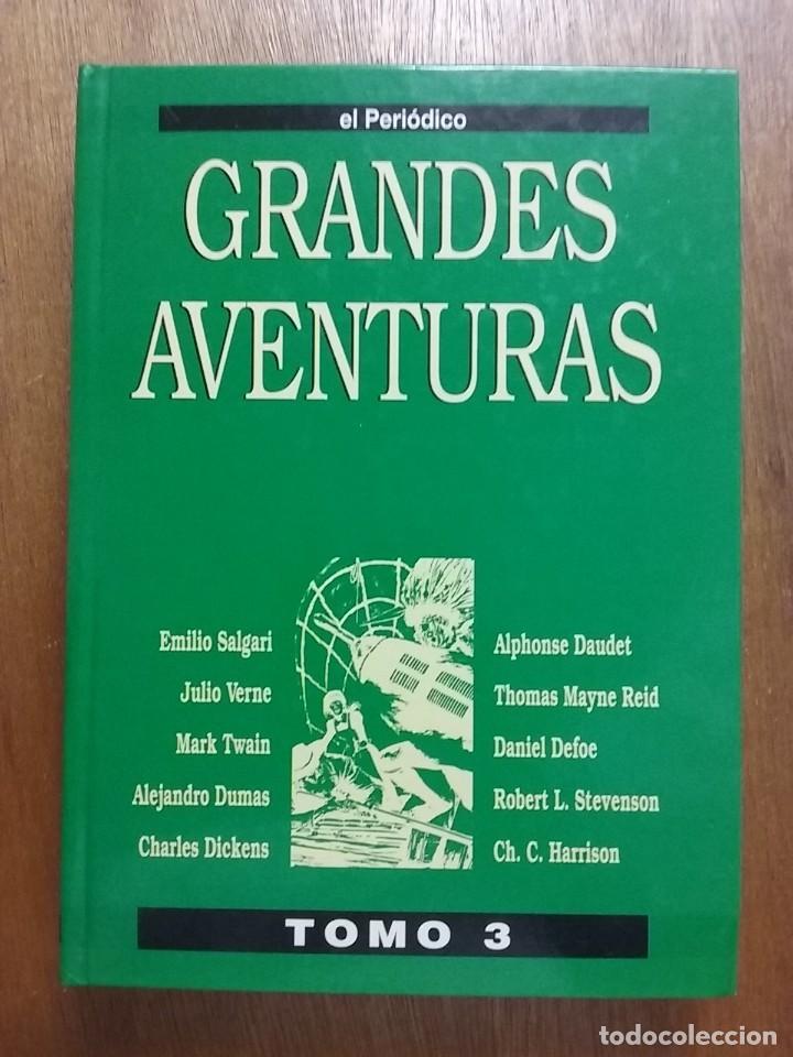 Tebeos: GRANDES AVENTURAS, CUATRO 4 TOMOS, EL PERIODICO, COMPLETO Y ENCUADERNADO, JOYAS LITERARIAS BRUGUERA - Foto 5 - 222384425