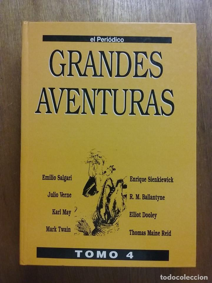 Tebeos: GRANDES AVENTURAS, CUATRO 4 TOMOS, EL PERIODICO, COMPLETO Y ENCUADERNADO, JOYAS LITERARIAS BRUGUERA - Foto 3 - 222384425