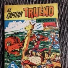 Tebeos: TEBEO EL CAPITAN TRUENO, EXTRA ALMANAQUE PARA 1961, ED. BRUGUERA. RESTOS DE HUMEDAD POR LA PARTE SUP. Lote 222431733