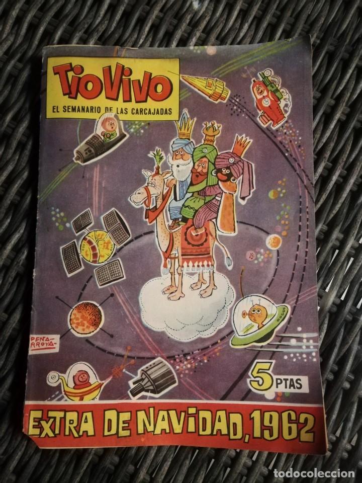 TIO VIVO - EXTRA EXTRA DE NAVIDAD 1962: EL SEMANARIO DE LAS CARCAJADAS - ED. BRUGUERA - MANCHAS DE H (Tebeos y Comics - Bruguera - Tio Vivo)