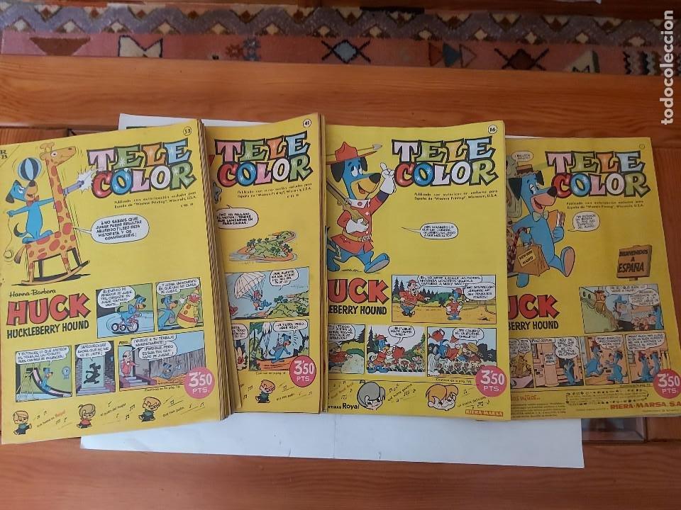 * TELE COLOR * LOTE DE 75 EJEMPLARES * ED. BRUGUERA 1963/1968 * EXCELENTES * (Tebeos y Comics - Bruguera - Tele Color)