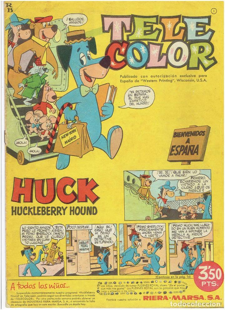 Tebeos: * Tele Color * Lote de 75 ejemplares * ED. Bruguera 1963/1968 * EXCELENTES * - Foto 7 - 222464066