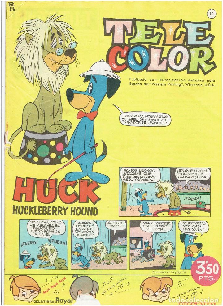 Tebeos: * Tele Color * Lote de 75 ejemplares * ED. Bruguera 1963/1968 * EXCELENTES * - Foto 9 - 222464066