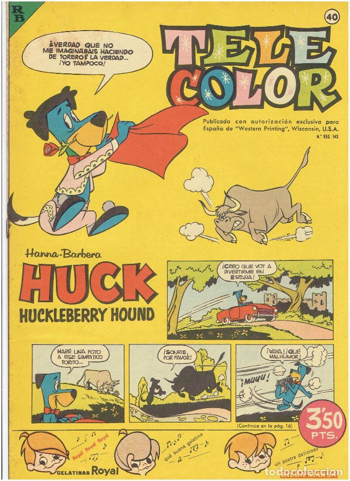 Tebeos: * Tele Color * Lote de 75 ejemplares * ED. Bruguera 1963/1968 * EXCELENTES * - Foto 15 - 222464066