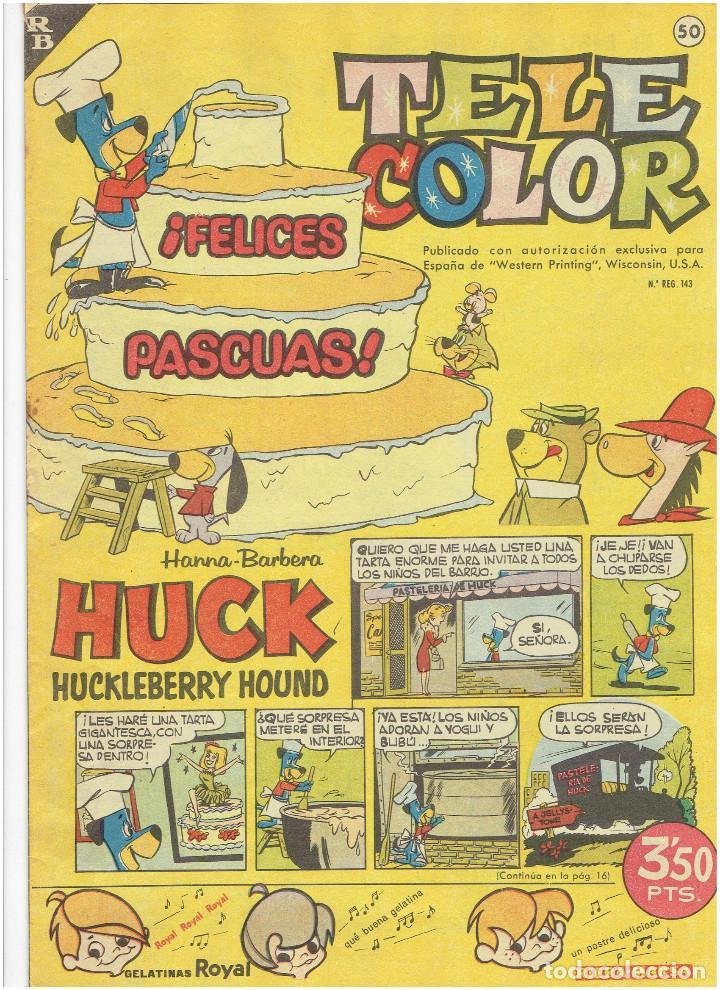 Tebeos: * Tele Color * Lote de 75 ejemplares * ED. Bruguera 1963/1968 * EXCELENTES * - Foto 17 - 222464066