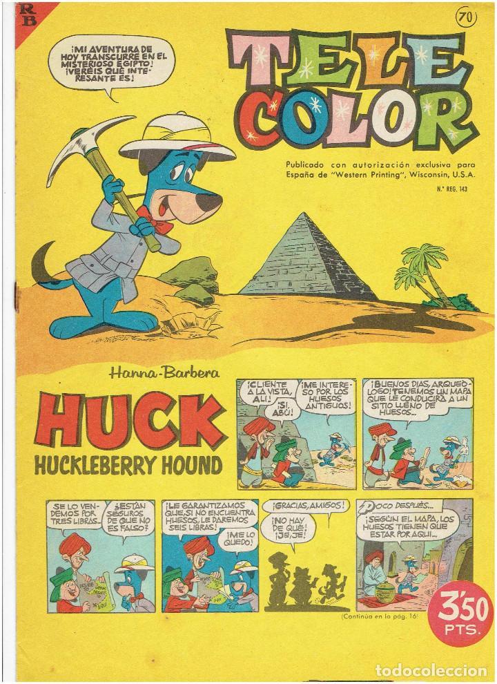 Tebeos: * Tele Color * Lote de 75 ejemplares * ED. Bruguera 1963/1968 * EXCELENTES * - Foto 21 - 222464066