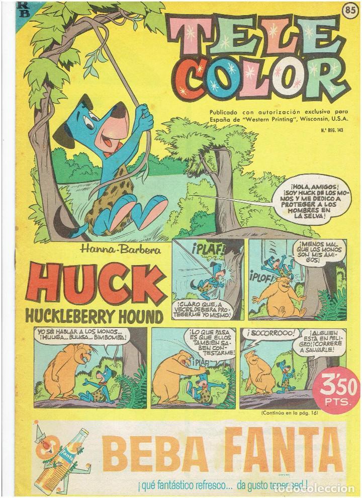 Tebeos: * Tele Color * Lote de 75 ejemplares * ED. Bruguera 1963/1968 * EXCELENTES * - Foto 23 - 222464066