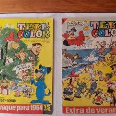 Tebeos: * TELE COLOR * LOTE ALMANAQUE 1964 + EXTRA VERANO * ED. BRUGUERA 1963/1968 * EXCELENTES *. Lote 222468287
