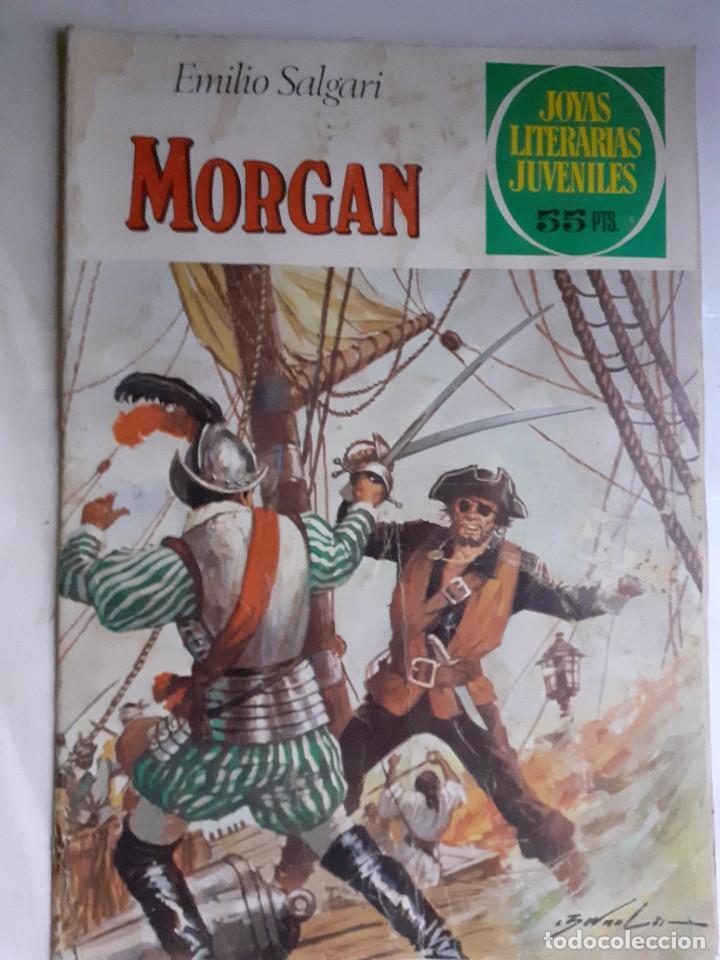 JOYAS LITERARIAS JUVENILES- Nº 242- MORGAN-1981-GRAN TOMÁS PORTO-MUY DIFÍCIL-CASI BUENO-LEA-3935 (Tebeos y Comics - Bruguera - Joyas Literarias)