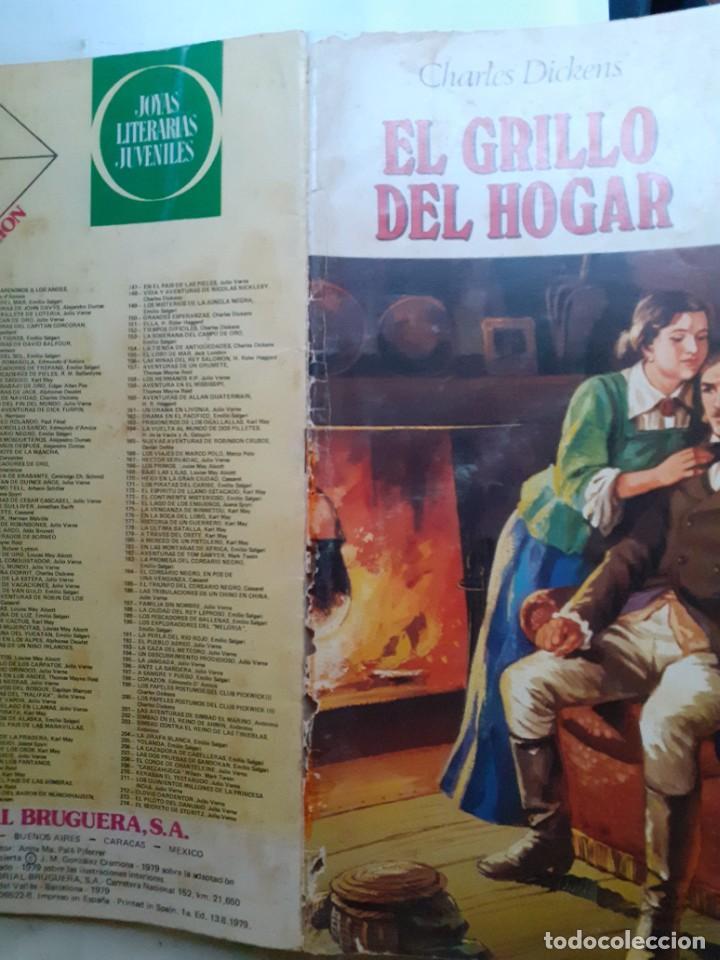 Tebeos: JOYAS LITERARIAS JUVENILES- Nº 217 -EL GRILLO DEL HOGAR-1979-GRAN TOMÁS PORTO-BUENO-DIFÍCIL-LEA-3936 - Foto 2 - 222606163