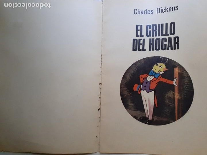 Tebeos: JOYAS LITERARIAS JUVENILES- Nº 217 -EL GRILLO DEL HOGAR-1979-GRAN TOMÁS PORTO-BUENO-DIFÍCIL-LEA-3936 - Foto 3 - 222606163