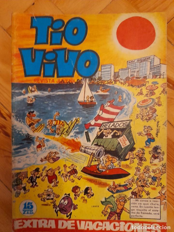 REVISTA TIO VIVO. EDITORIAL BRUGUERA. LOTE EXTRA DE VACACIONES 1967 Y 1968 + ALMANAQUE PARA 1968 (Tebeos y Comics - Bruguera - Tio Vivo)