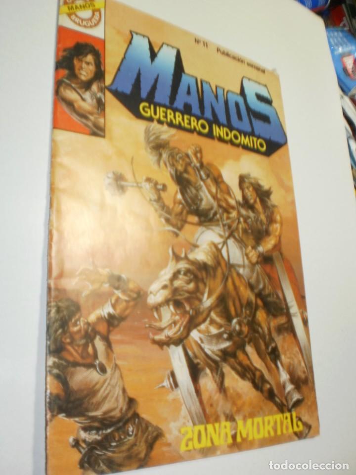 MANOS GUERRERO INDÓMITO Nº 11. ZONA MORTAL (BUEN ESTADO) (Tebeos y Comics - Bruguera - Otros)