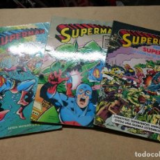 Tebeos: SUPERMAN (ÁLBUM GIGANTE) LOTE TOMOS 3-5-6 - BRUGUERA AÑOS 70-80. Lote 223036320