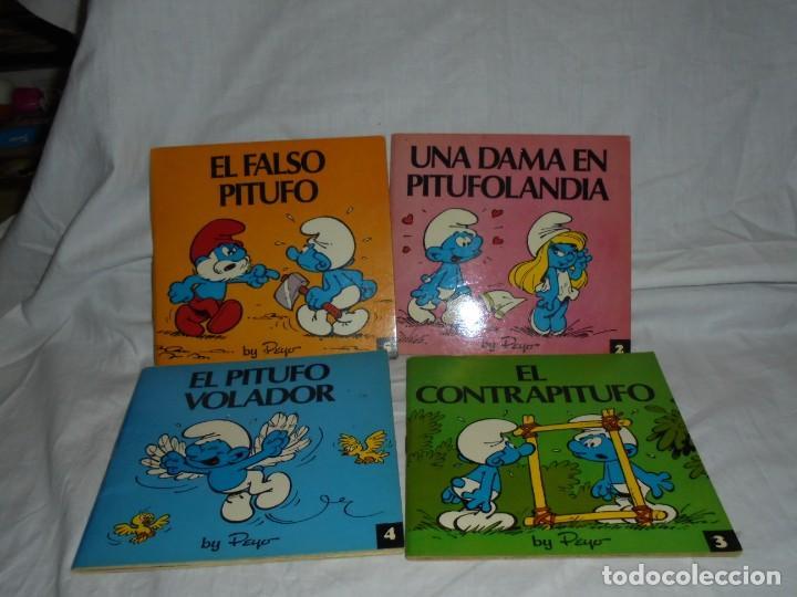 4 MINICUENTOS PITUFOS Nº 2-3-4-5.BRUGUERA 1981.-1ª EDICION (Tebeos y Comics - Bruguera - Otros)