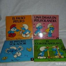 Tebeos: 4 MINICUENTOS PITUFOS Nº 2-3-4-5.BRUGUERA 1981.-1ª EDICION. Lote 223486772