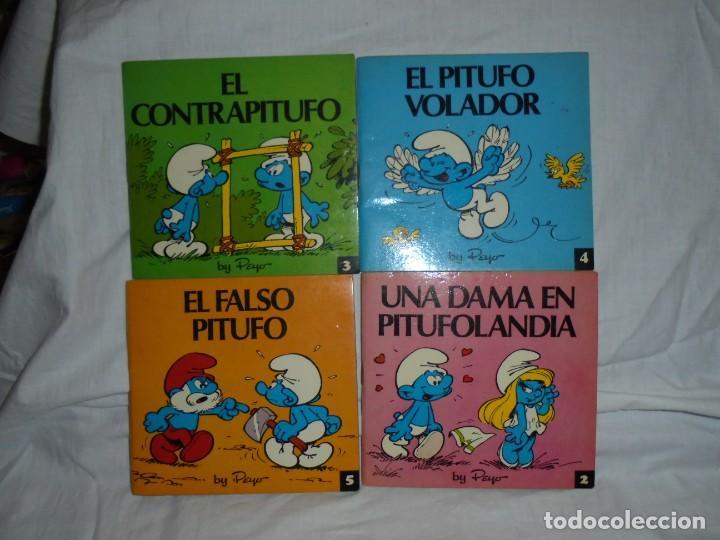 Tebeos: 4 MINICUENTOS PITUFOS Nº 2-3-4-5.BRUGUERA 1981.-1ª EDICION - Foto 2 - 223486772