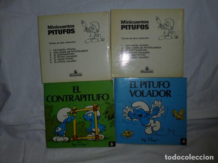 Tebeos: 4 MINICUENTOS PITUFOS Nº 2-3-4-5.BRUGUERA 1981.-1ª EDICION - Foto 3 - 223486772
