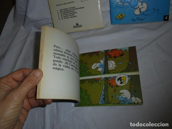 Tebeos: 4 MINICUENTOS PITUFOS Nº 2-3-4-5.BRUGUERA 1981.-1ª EDICION - Foto 4 - 223486772