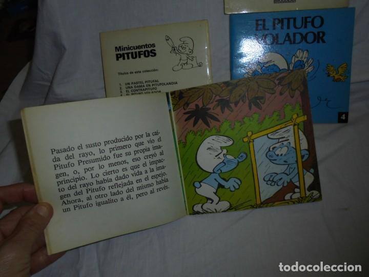 Tebeos: 4 MINICUENTOS PITUFOS Nº 2-3-4-5.BRUGUERA 1981.-1ª EDICION - Foto 5 - 223486772