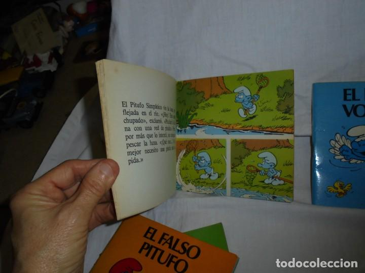 Tebeos: 4 MINICUENTOS PITUFOS Nº 2-3-4-5.BRUGUERA 1981.-1ª EDICION - Foto 8 - 223486772