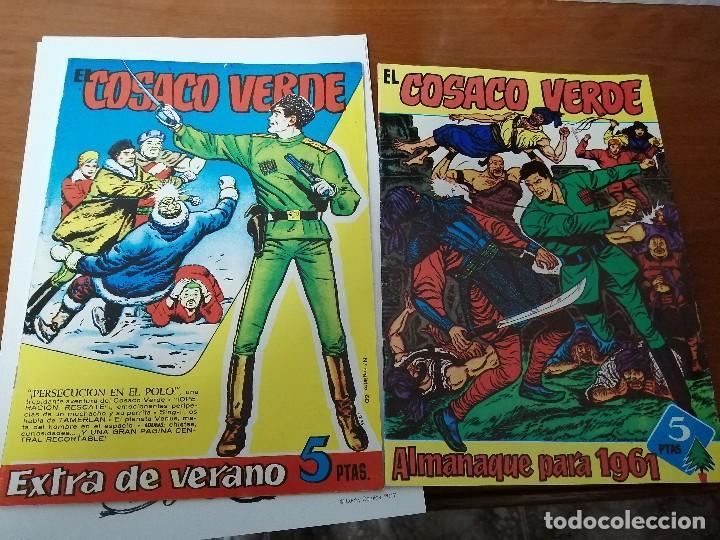 EL COSACO VERDE - ALMANAQUE 1961 Y EXTRA DE VERANO - FACSIMILES - MUY BUEN ESTADO (Tebeos y Comics - Bruguera - Cosaco Verde)