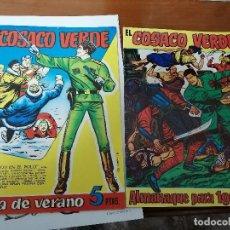 Tebeos: EL COSACO VERDE - ALMANAQUE 1961 Y EXTRA DE VERANO - FACSIMILES - MUY BUEN ESTADO. Lote 223492548