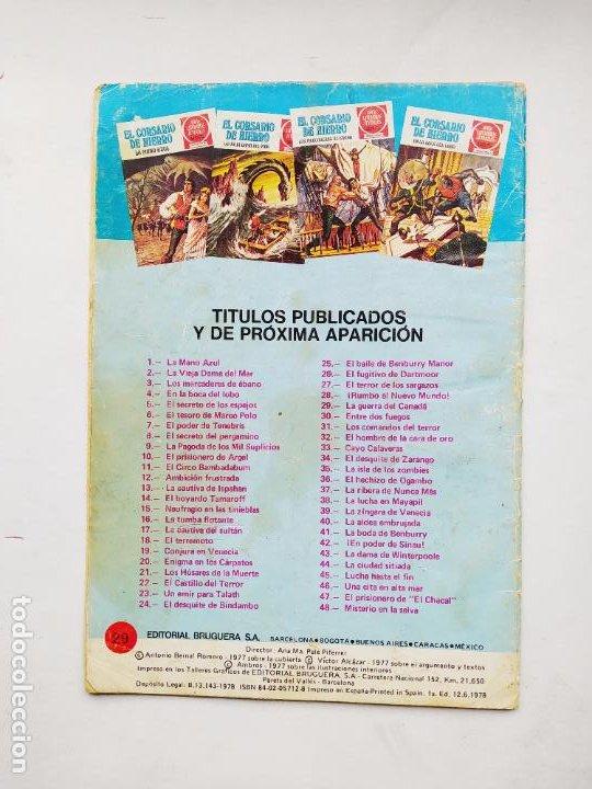 Tebeos: EL CORSARIO DE HIERRO JOYAS LITERARIAS JUVENILES SERIE ROJA Nº 29 Editorial Bruguera. TDKC86 - Foto 2 - 223570363