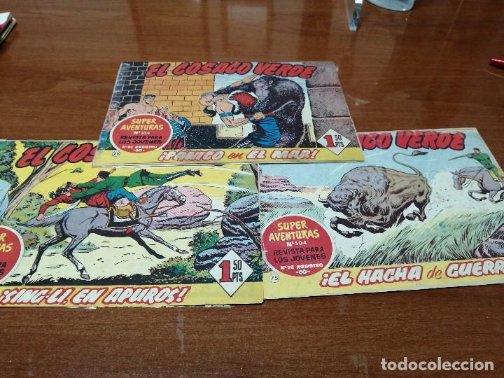 EL COSACO VERDE - ORIGINALES - 3 CUADERNILLOS - MUY USADOS - NUMEROS 25, 50 Y 75 (Tebeos y Comics - Bruguera - Cosaco Verde)