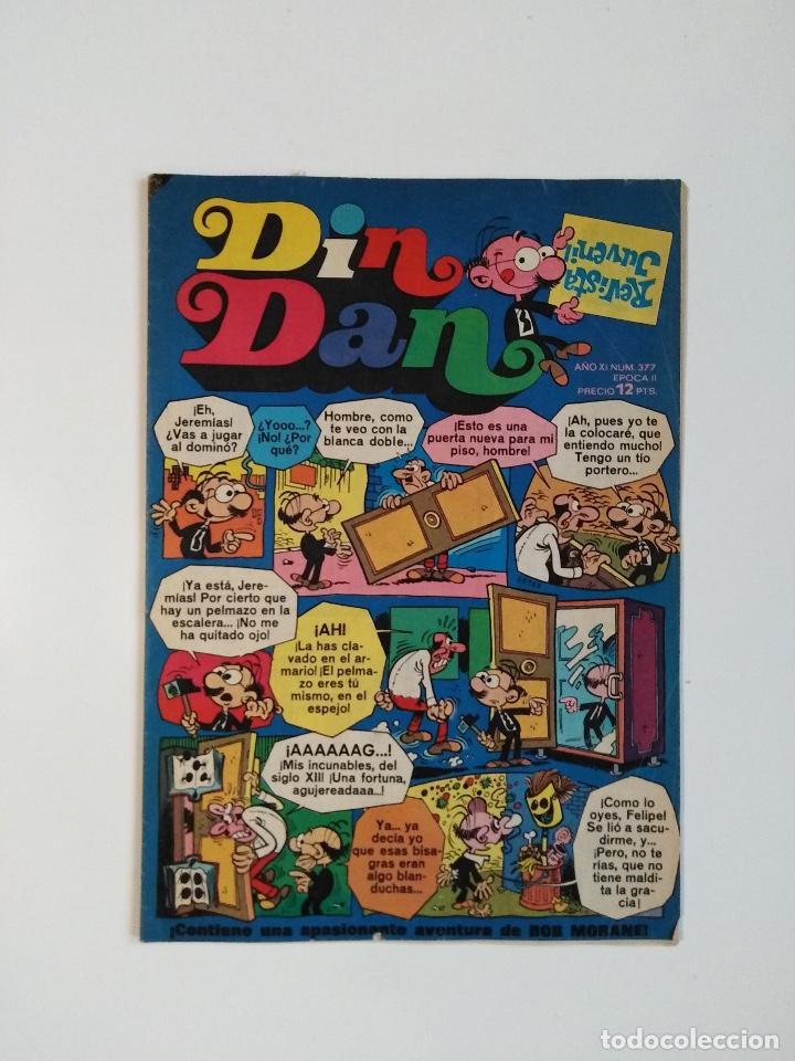 DIN DAN Nº 377 - AÑO XI - II ÉPOCA - REVISTA JUVENIL - 12 PTS. - BRUGUERA 1975 - PUBLICIDAD NANCY (Tebeos y Comics - Bruguera - Din Dan)
